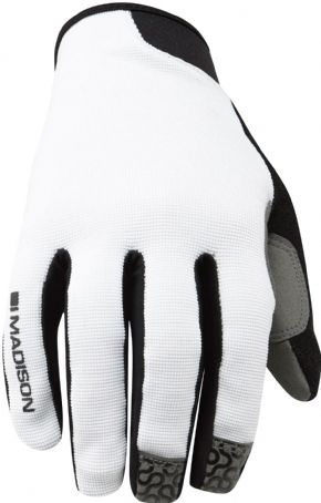 Madison Roam Full Finger Gloves White - DTE waterproof short keeps you on the trails no matter what the weather